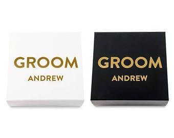 Personalised Wedding Groom Gift Box, Special Wedding Gift Box, Keepsake Box