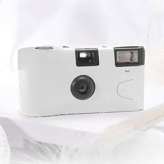 White Disposable Camera Wedding Favour Pack Of 10 24