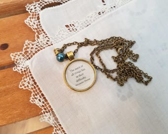 The Three Musketeers Quote Necklace, The merit of all things lies in their difficulty, Alexandre Dumas, Book Nook, MarjorieMae