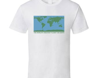 The Worlds Greatest Planet On Earth Fun World Map Graphic Tee Shirt