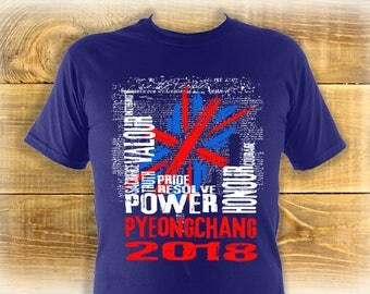 Team GB Winter Olympics Shirt, Adult Winter Olympics 2018 T Shirt, PyeongChang 2018 Tee, Design Suitable For Him Or Her