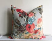 Katie Floral Boho Pillow Cover Pillow Cover 18x18