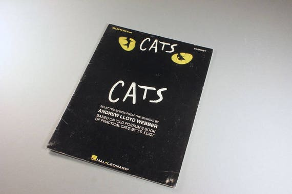 Sheet Music, Clarinet, Selections from Cats, Andrew Lloyd Webber, 10 Songs, PaperBack