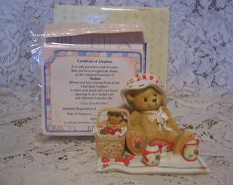 Cherished Teddies  THELMA Figurine with Box and Certificate