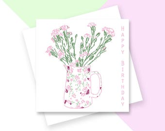 Jug Happy Birthday greetings card