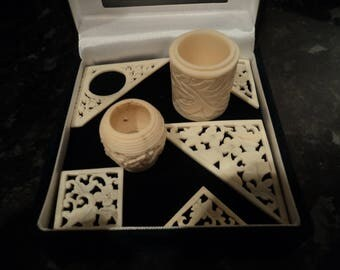 Antique Chinese bone ornamental objects