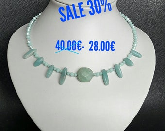 SALE Necklace with amazonite