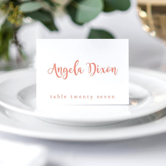folded place card template