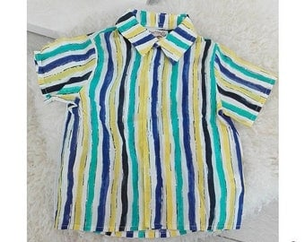 SALE Boy's short sleeves shirt striped