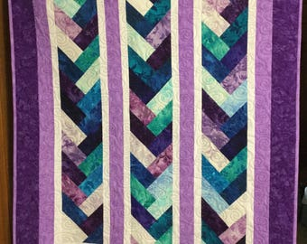 Purple Braid Small Quilt