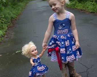 New York Giants Cheer Outfit for Girls Hand Made