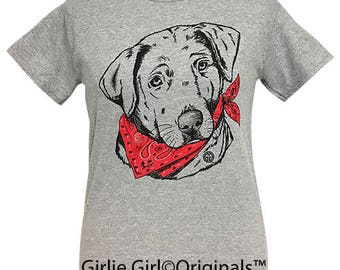 Girlie Girl Originals Paisley Bandana Lab Sport Grey Short Sleeve T-Shirt