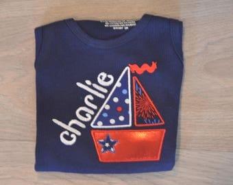 Girls sail boat shirt