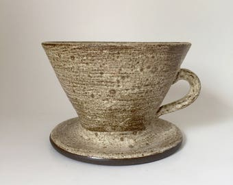 Handmade Ceramic Pourover Coffee Maker for Slow Drip Coffee Brewing