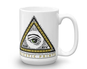 Majestic Prints Pyramid Logo 15oz Coffee Mug