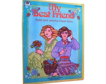 My Best Friend Katie and Jessica Paper Dolls Uncut by Whitman 1980s - Vintage Paper Dolls - 1970s - Vintage Doll