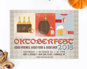 Oktoberfest Invitation, Oktoberfest Party Invitation, Halloween Party Invitation, Beer Party, Beer Party Invitation, Brew, Beer Brewing