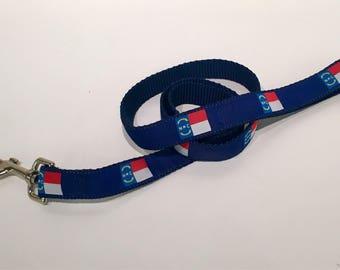 North Carolina Flag nylon 6' Dog Leash