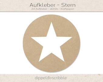 Sticker star kraft paper
