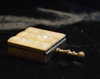 Antique Brass Snuff Box