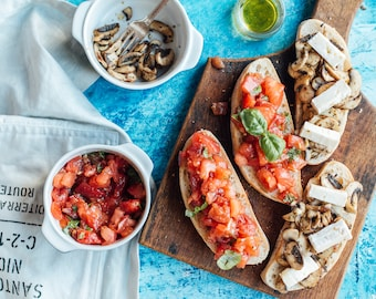 TWO SIDED Food photography background backdrop | JEANS
