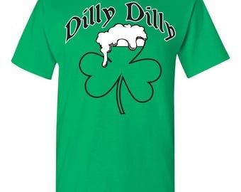St Patrick's Day Shamrock Beer Mug Dilly Dilly St Pat's Men's Tee Shirt 1763