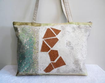 "Bag of designer fabric and Cork ""Fragments of the desert"""