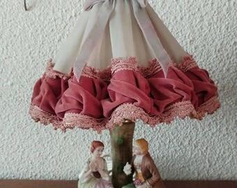 Vintage boudoir lamp velvet lamp shade