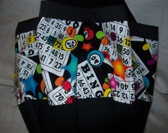 Bingo Cards with stars  Cloth Bingo Bag