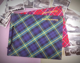2x Vintage Tartan Photograph Albums - Plus 20 Scotland Photos