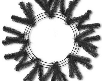 "15"" Black Work Wreath XX748702, Black Wreath Form XX748702, Black Wreath Frame XX748702"