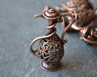 Tea pot pendant antique copper
