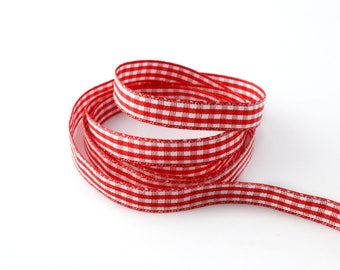 10 mm the meter gingham Ribbon