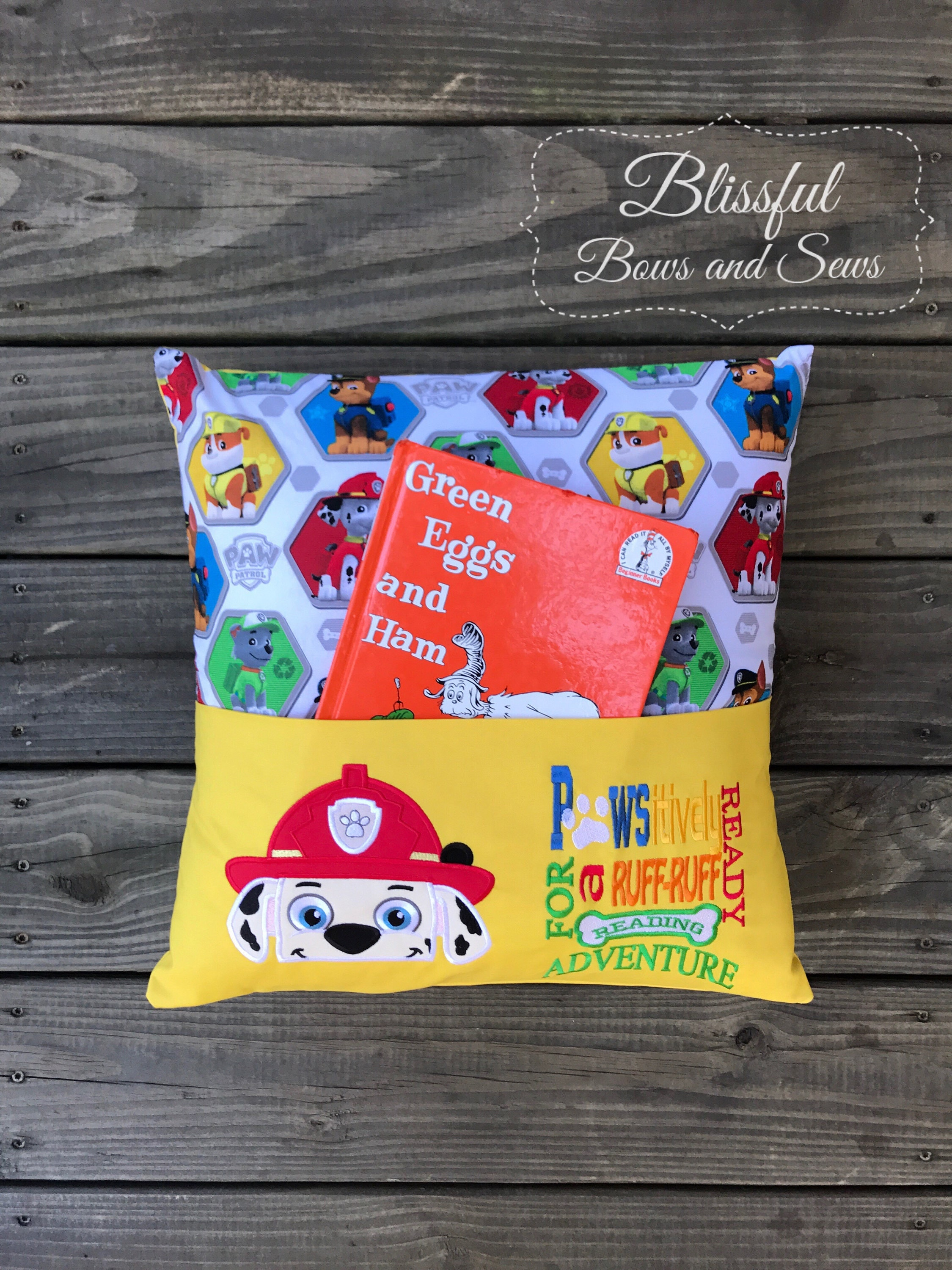 Pocket Reading Pillow Reading Pillow Book Pillow Childrens