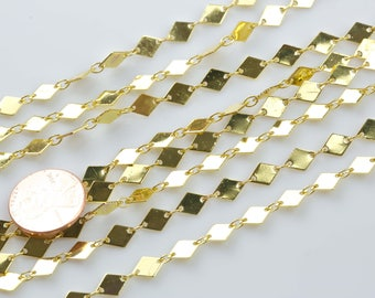 Marque Chain Gold Plated Brass. By THE YARD
