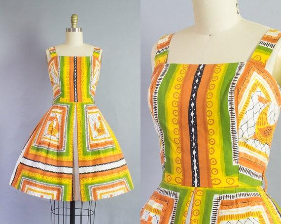 1950s Catalina Chicken Novelty Print Dress   XS (32B/24W)