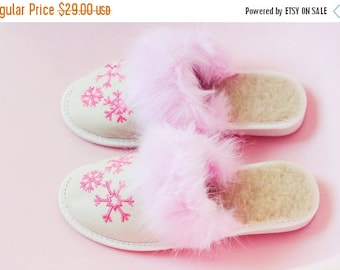 ON SALE Handmade Sheepskin Slippers | Wool Slippers | Women's Slippers | Warm slippers | Christmas Slippers | Furry slippers | Slippers Fur
