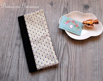 Wedding, birth * family book cover - cotton patterns fans golds, black cotton, to order