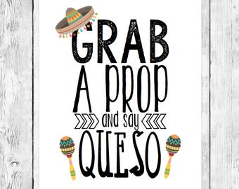 Fiesta Photo Booth Prop/ Birthday Party Word Art Printable/ Cinco de Mayo Celebration/ Mexican Event Decoration/ Instant Digital Download