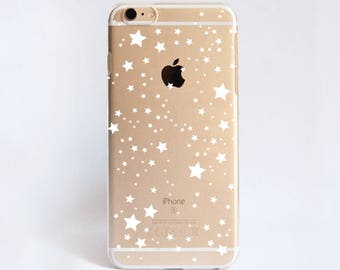Clear Stars Phone Case Design for iPhone Cases, HTC Cases, Samsung Cases, Google Pixel XL Cases, Sony Cases and Nokia Cases
