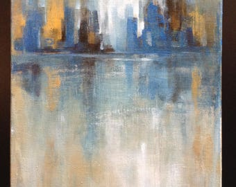 Cityscape - Original Modern Abstract Art Painting - Acrylic On Canvas