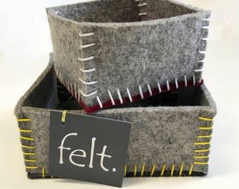 Wool Felt Trinket Boxes