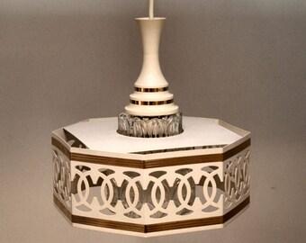Art Deco Metal Glass hanging lamp 60