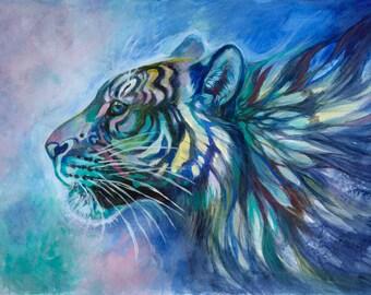 "Ocean Tiger 8x12"" Lustre print"