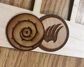 Rose & Paragon Wooden Stickers