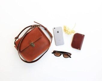 Ginger leather mini purse