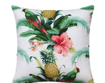 SALE Tropical Outdoor Pillow Cover, Hawaiian Decor, Pineapple Throw Pillow,  Tommy Bahama Pillow