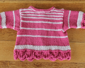 a little baby hand knitted cotton jacket