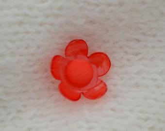 set of 4 buttons fancy flower 20 mm diam.