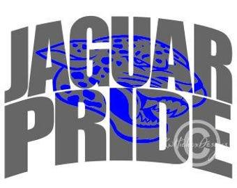 Jaguar Svg, Knockout Font Svg, Jaguar Pride Svg, Dxf For Silhouette, Football Svg